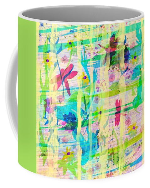 Abstract Coffee Mug featuring the digital art In The Garden by Rachel Christine Nowicki