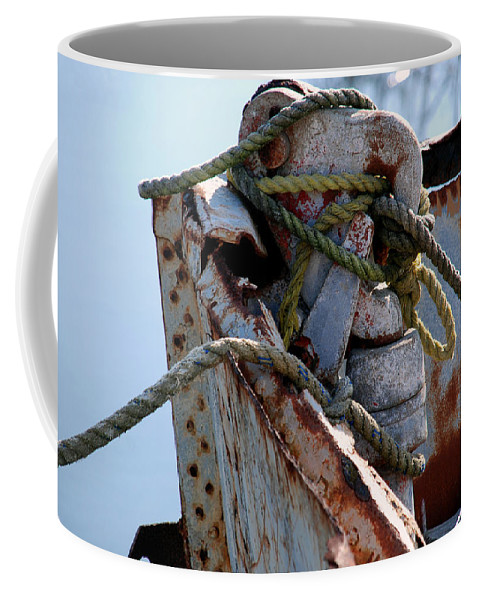 Rusty Boat Coffee Mug featuring the photograph In The Good Old Days by Susanne Van Hulst