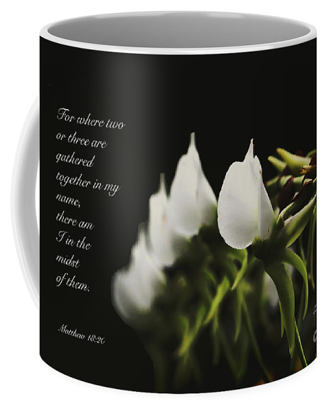 Floral Coffee Mug featuring the photograph In The Midst by Debbie Nobile
