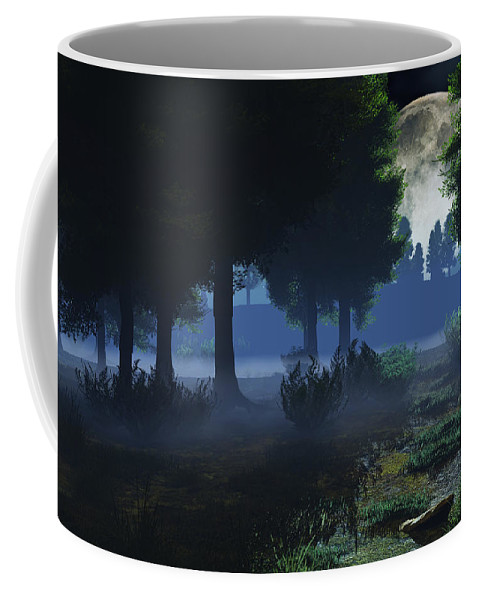 Fog Coffee Mug featuring the digital art In The Moon Light by Max Steinwald