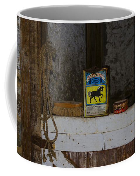 The Coffee Mug featuring the photograph In The Old Horse Barn by Bill Cannon