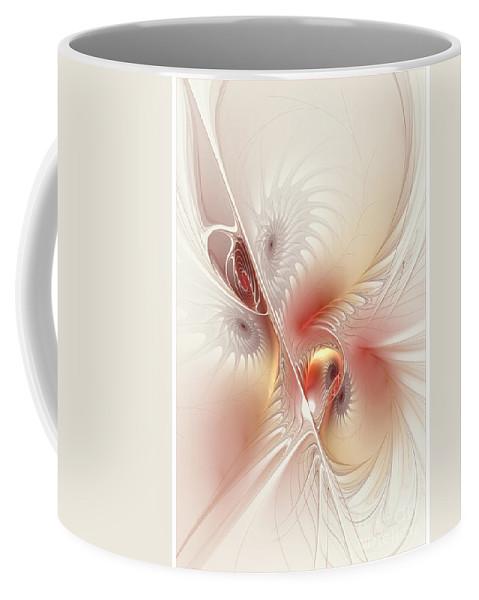 Digital Coffee Mug featuring the digital art In The Pink Frac by Deborah Benoit