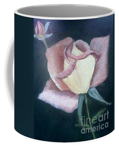 Roses Coffee Mug featuring the painting In The Pink by Joanne Dour
