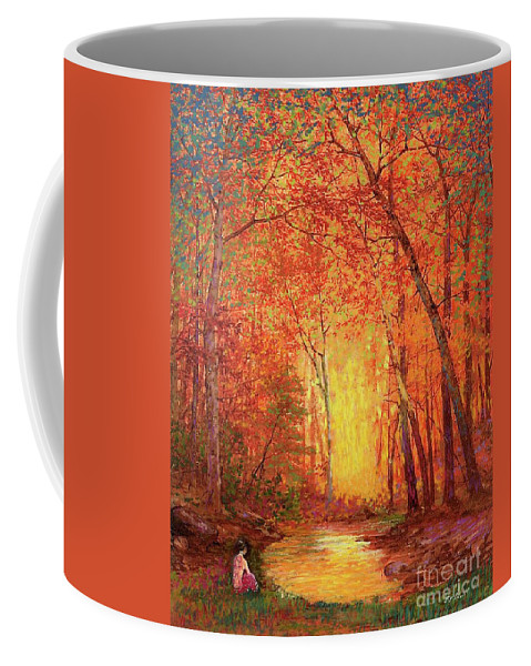 Meditation Coffee Mug featuring the painting In the Presence of Light Meditation by Jane Small