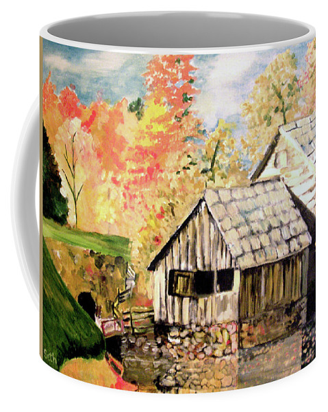 In The Quiet Moments Coffee Mug featuring the painting In The Quiet Moments by Seth Weaver