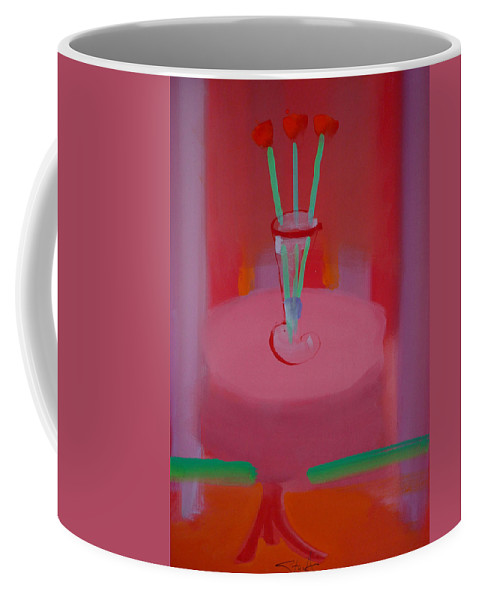 Vase Coffee Mug featuring the painting In The Red Room by Charles Stuart