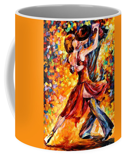 Afremov Coffee Mug featuring the painting In The Rhythm Of Tango by Leonid Afremov