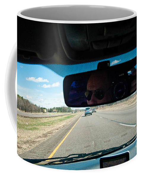 Driving Coffee Mug featuring the photograph In The Road 2 by Steven Dunn