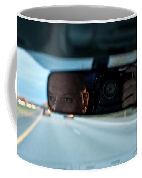 Driving Coffee Mug featuring the photograph In The Road by Steven Dunn