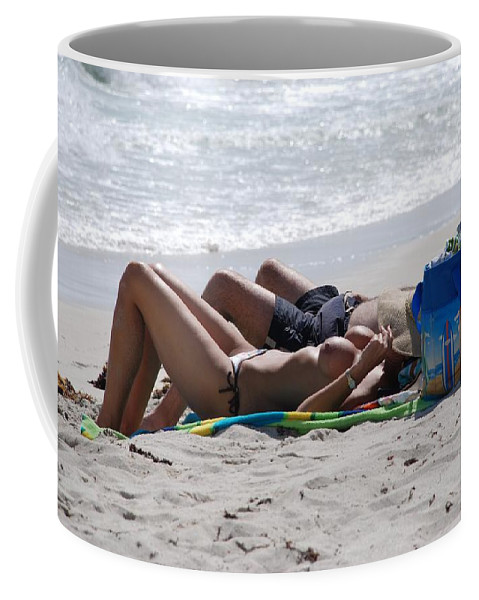 Nude Coffee Mug featuring the photograph In The Sand At Paradise Beach by Rob Hans