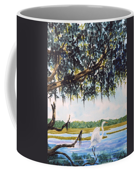 Landscape Coffee Mug featuring the painting In The Shadows by Stanton Allaben