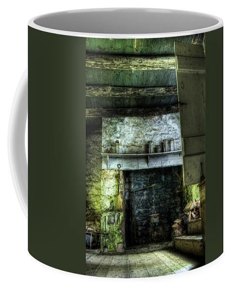 Farm Coffee Mug featuring the photograph In The Springhouse by Scott Wyatt