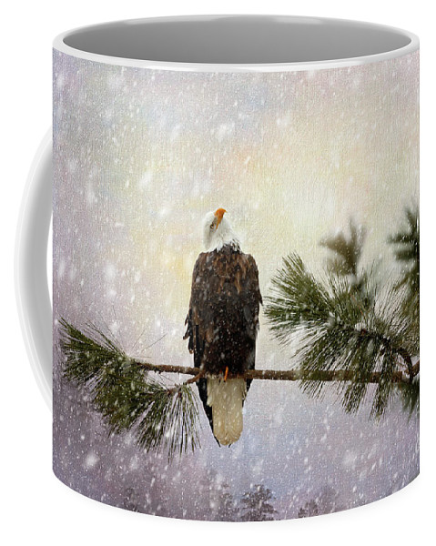 Bald Eagle Coffee Mug featuring the photograph In The Twilight Glow by Beve Brown-Clark Photography