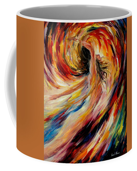 Nude Coffee Mug featuring the painting In The Vortex Of Passion by Leonid Afremov