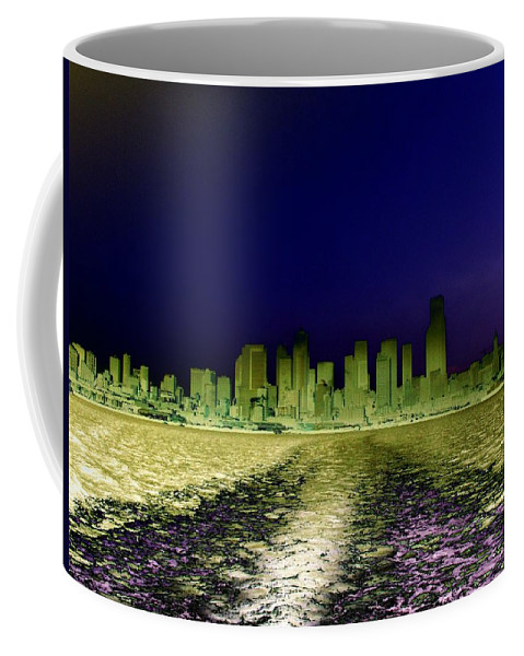 Seattle Coffee Mug featuring the photograph In The Wake by Tim Allen