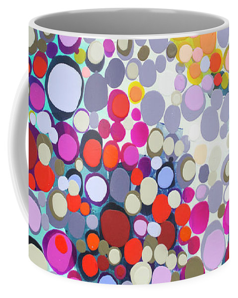 Abstract Coffee Mug featuring the painting In The Winter by Claire Desjardins