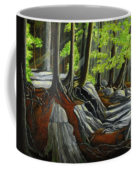 Landscape Coffee Mug featuring the painting In The Woods by Brigitte Meskey
