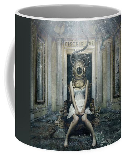 Coffee Mug featuring the digital art In Vaults by District 97