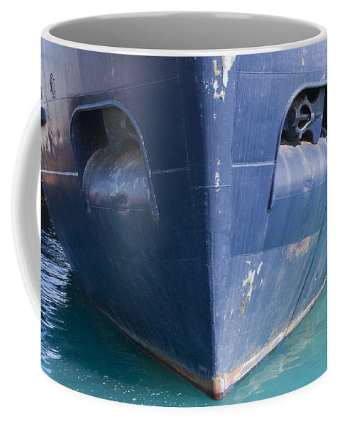 Chicago Windy City Ship Boat Lake Michigan Water Sun Sunny Blue Anchor Coffee Mug featuring the photograph In Waiting by Andrei Shliakhau