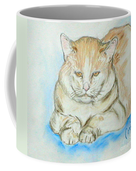 Pastel Coffee Mug featuring the drawing In Waiting by Cori Solomon