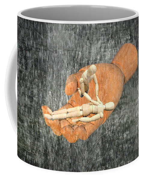 Symbolic Art Coffee Mug featuring the digital art In Your Hands by Ally White