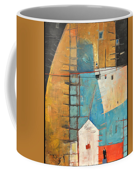Abstract Coffee Mug featuring the painting Incident At Harpers Corner by Tim Nyberg