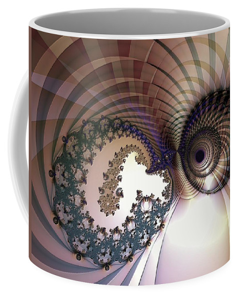 Abstract Coffee Mug featuring the digital art Incompatible Elements by Casey Kotas