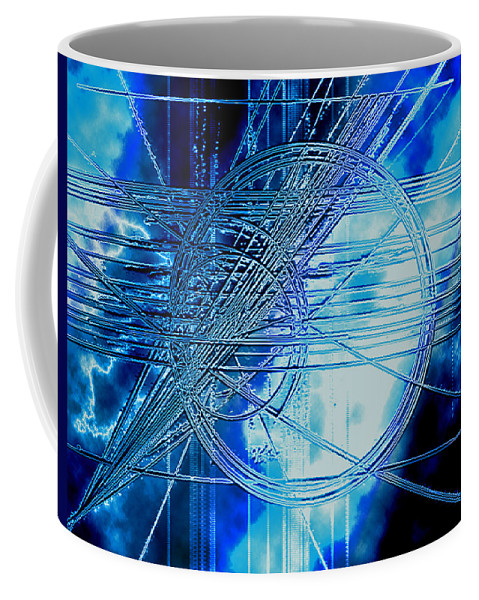 Indago Coffee Mug featuring the digital art Indago Storm by Don Quackenbush