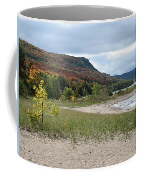 Beach Coffee Mug featuring the photograph Independence by Kelly Mezzapelle