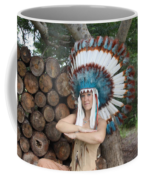Beautiful Indian Sexy Exotic Female Coffee Mug featuring the photograph Indian 018 by Lucky Cole