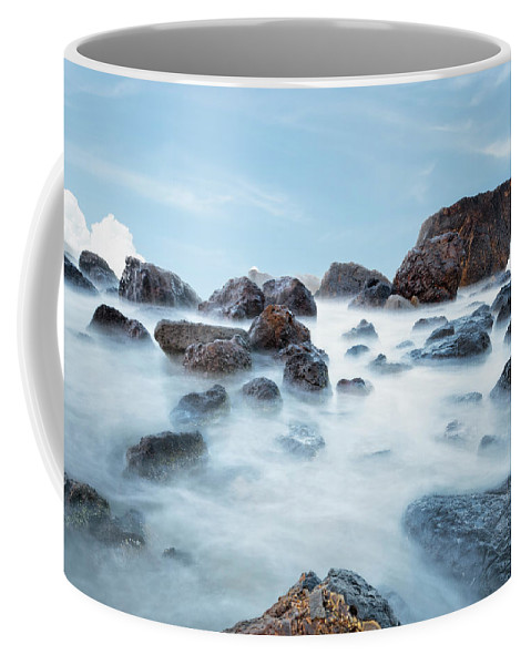 Oregon Coffee Mug featuring the photograph Indian Beach At Ecola State Park, Oregon by Kay Brewer