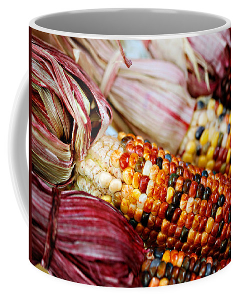 Corn Coffee Mug featuring the photograph Indian Corn by Marilyn Hunt