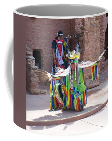 Indian Dancer Coffee Mug featuring the photograph Indian Dancer by Anita Burgermeister