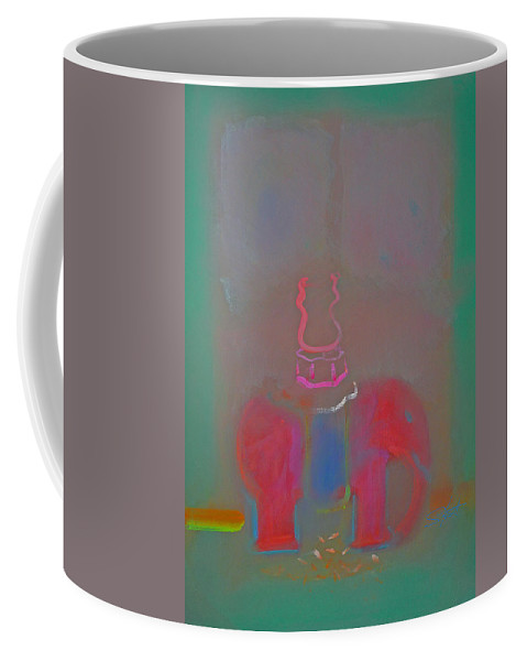 Elephant Coffee Mug featuring the painting Indian Elephant 2 by Charles Stuart