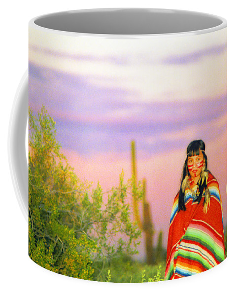 Indian Coffee Mug featuring the photograph Indian Full Moon Southwest Sunset by James BO Insogna