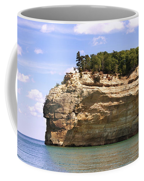 Landscape Coffee Mug featuring the photograph Indian Head Rock by Michael Peychich