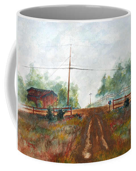 Mountains Coffee Mug featuring the painting Indian Hills by Andrew Gillette