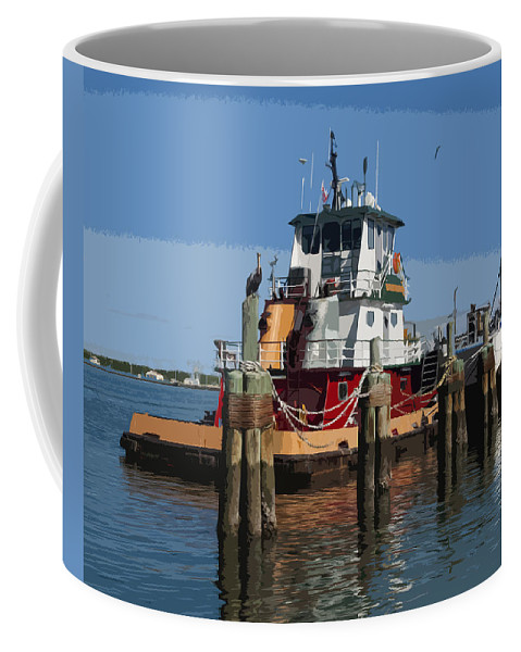 Tug Coffee Mug featuring the painting Indian River by Allan Hughes