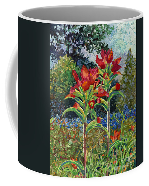 Wild Flower Coffee Mug featuring the painting Indian Spring by Hailey E Herrera