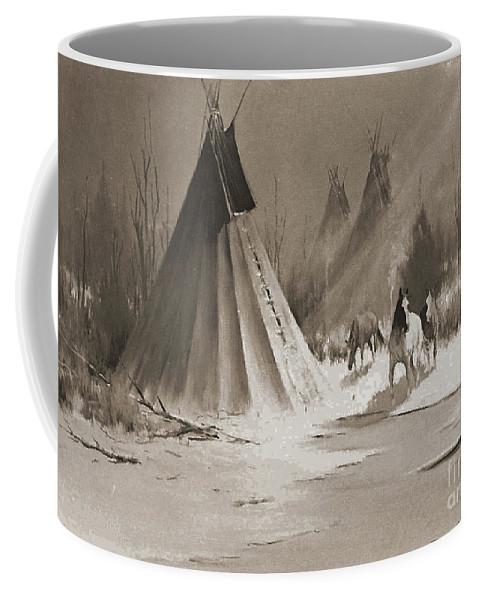 American Coffee Mug featuring the photograph Indian Tee Pee by Gary Wonning