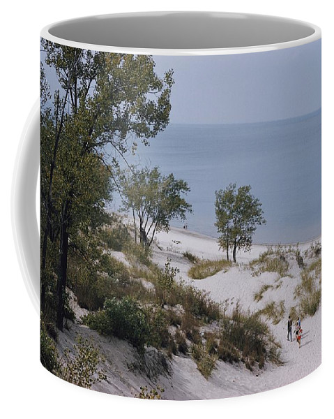 lake Michigan Coffee Mug featuring the photograph Indiana Dunes State Park Provides by B. Anthony Stewart