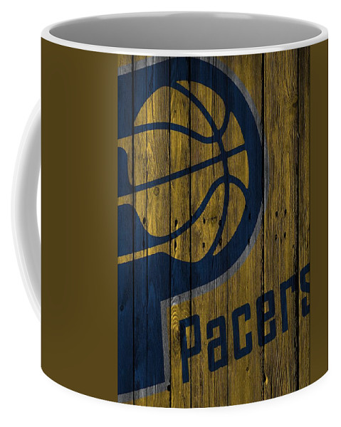 Pacers Coffee Mug featuring the photograph Indiana Pacers Wood Fence by Joe Hamilton