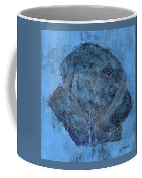 Blue Coffee Mug featuring the digital art Indistincint Blues by Diane Parnell