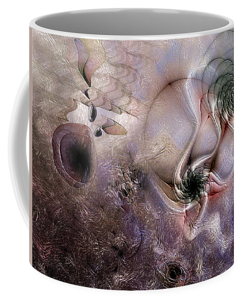 Abstract Coffee Mug featuring the digital art Individuation Contravened by Casey Kotas