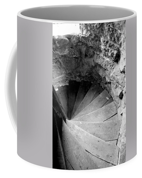 Stairs Coffee Mug featuring the photograph Indoor Spiral by Greg Fortier
