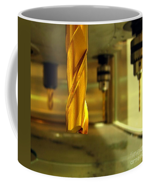 Drill Coffee Mug featuring the photograph Industrial Drilling Machine by Yali Shi