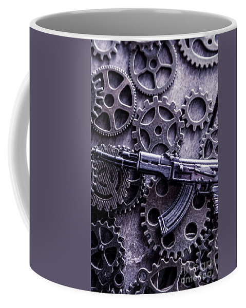 Tactical Coffee Mug featuring the photograph Industrial Firearms by Jorgo Photography - Wall Art Gallery