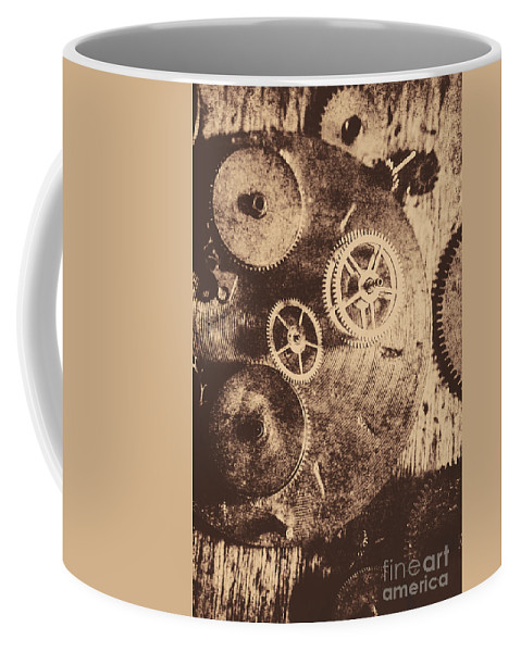 Vintage Coffee Mug featuring the photograph Industrial Gears by Jorgo Photography - Wall Art Gallery
