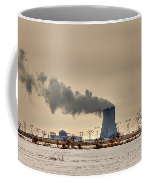 Clouds Coffee Mug featuring the photograph Industrialscape by Evelina Kremsdorf