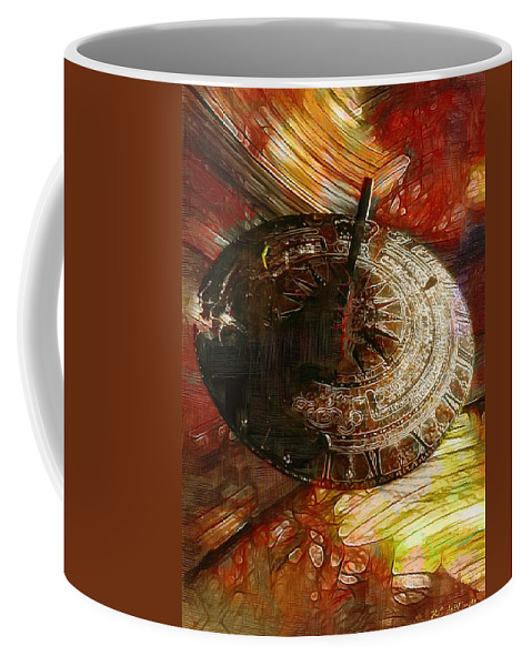Science Fiction Coffee Mug featuring the painting Inevitable Conclusion by RC DeWinter